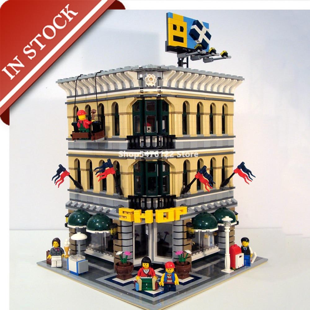 Street View Grand Emporium 10211 15005 In Stock Building Blocks 2100+Pcs Creator Expert Construction Set Out Of Print