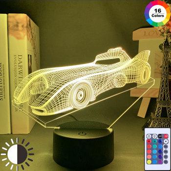 Akrylowe 3D Illusion Baby Night Light samochód sportowy Nightlight dla dzieci dziecko chłopiec dekoracja sypialni stolik nocny lampa samochód wyścigowy prezent tanie i dobre opinie NARUTO NONE CN (pochodzenie) Do sypialni Brak Dotykowy wyłącznik Fluorescencyjna ART DECO Grawerowane Black 0-5 w