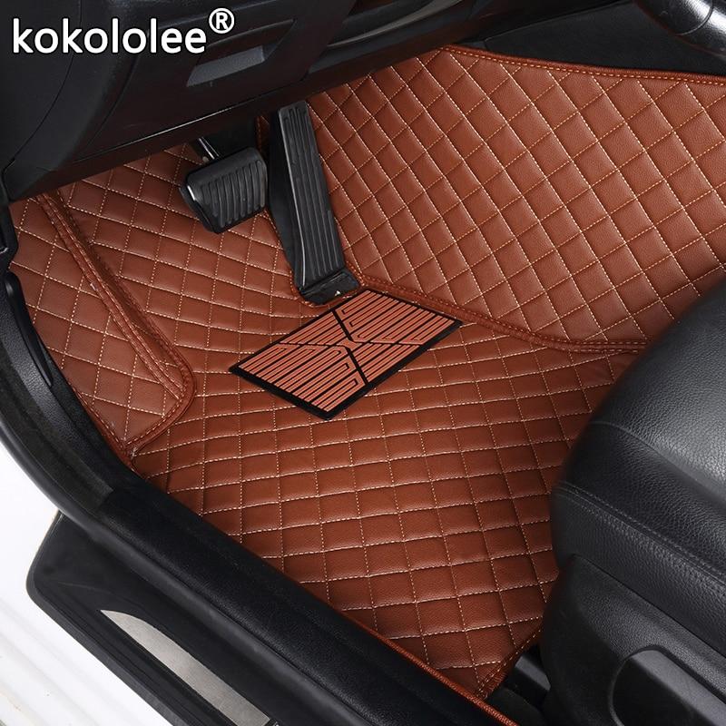 Car Floor Mats For Citroen C4 C5 C2 C3 C6 Drain C-Quatre/Triomphe Elysee Picasso Car Accessories Car Styling Custom Foot Mats