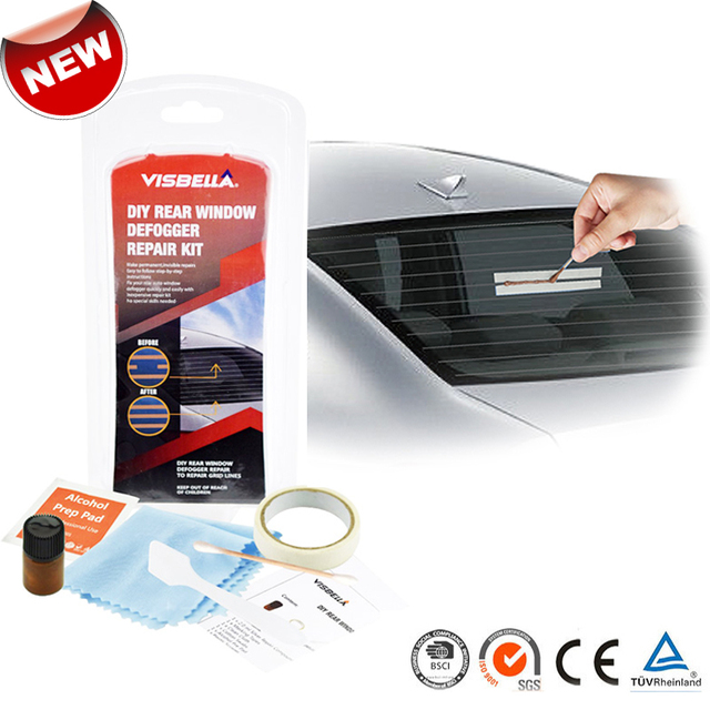 Car Rear Window Defogger Repair Kit For Car Scratches Broken Grid Lines Conduct Electricity Auto Back Window Repair Tool Sets