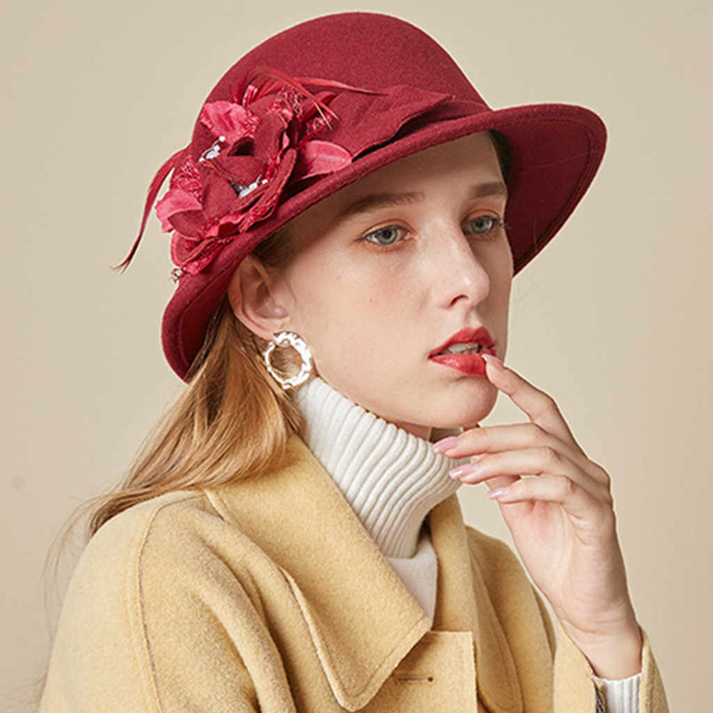 40 ^ Fashion Wanita Baret Bahasa Perancis Gaya Pelukis Topi Topi Vintage Hangat Pesta Topi