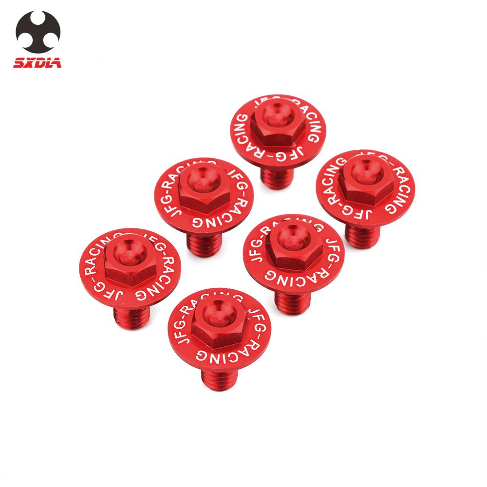 Front Fork Guard Bolts Screw For Honda CR125R CR250R CRF250R CRF250X CRF450R CRF450RX CRF450X CRF 250R 250X 450R 450RX 450X