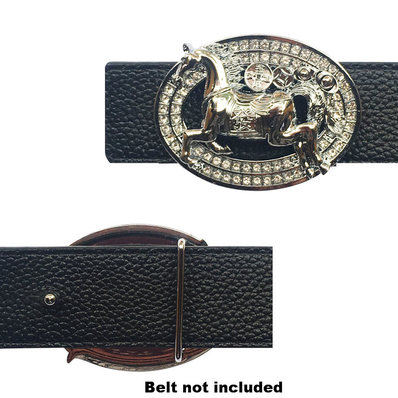 Western Leather Belt Buckle With 12 Zodiac Horse Icons For Men's Belt Metal Accessories Automatic Belt Buckle Dropshipping 2020