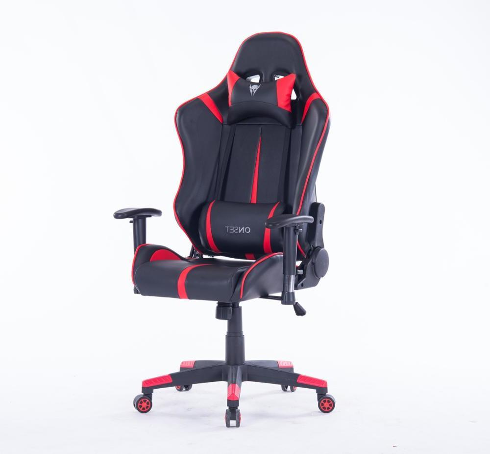 Reclining EU Massage Racing Chair Comfortable Computer Office Chair 360 Degree Revolving Gaming Recliner Armchair With Footrest