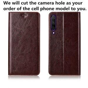 Image 2 - Genuíno couro flip slot para cartão de telefone bag para Samsung Galaxy M30/Samsung Galaxy M20/Samsung Galaxy M10 ultra tampa do telefone fino