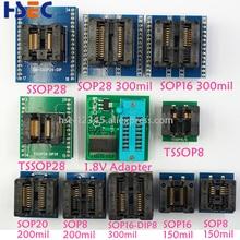 11 個 SSOP28 TSSOP28 TSSOP8 SOP28 SOP20 SOP16 SOP8 dip8 に 150mil 200mil 1.8V アダプタ互換性 tssop20 ssop20 ソケットアダプタ