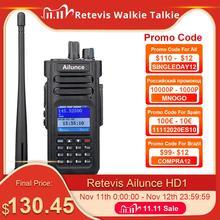 Retevis Ailunce HD1 ثنائي النطاق DMR راديو المذياع اللاسلكي الرقمي هام راديو Amador VHF UHF IP67 مقاوم للماء لتحديد المواقع المشفرة جهاز الإرسال والاستقبال