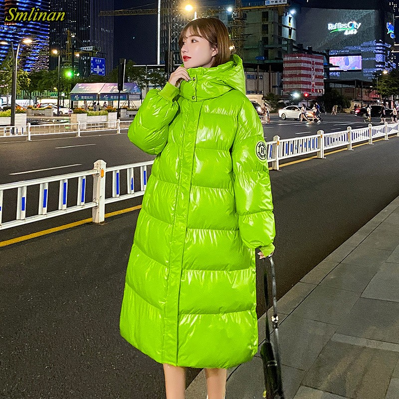 Smlinan, зимний х длинный пуховик для женщин, толстое хлопковое стеганое Женское пальто размера плюс, Повседневная парка с капюшоном, Mujer, ветровка Парки    АлиЭкспресс