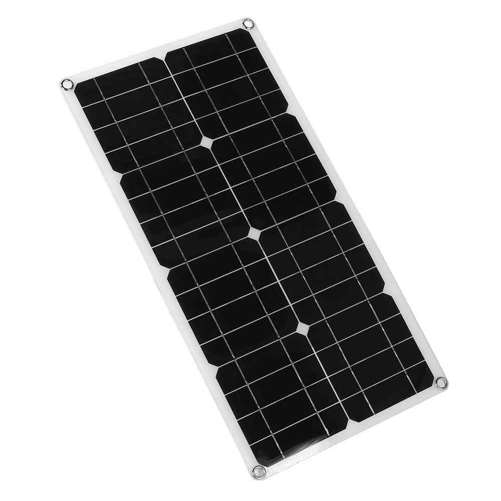 25 ワットソーラーパネル & ソーラーシステム & 緊急電源単結晶シリコンデュアル USB バッテリー充電アウトドア & ホーム