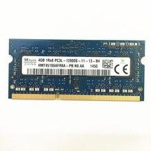 Memória PC3L-12800S-11-13 v ram do portátil da memória 1600 v do ddr3 de skhynix ddr3 4gb 1rx8 1.35 ddr3 usado em boas condições