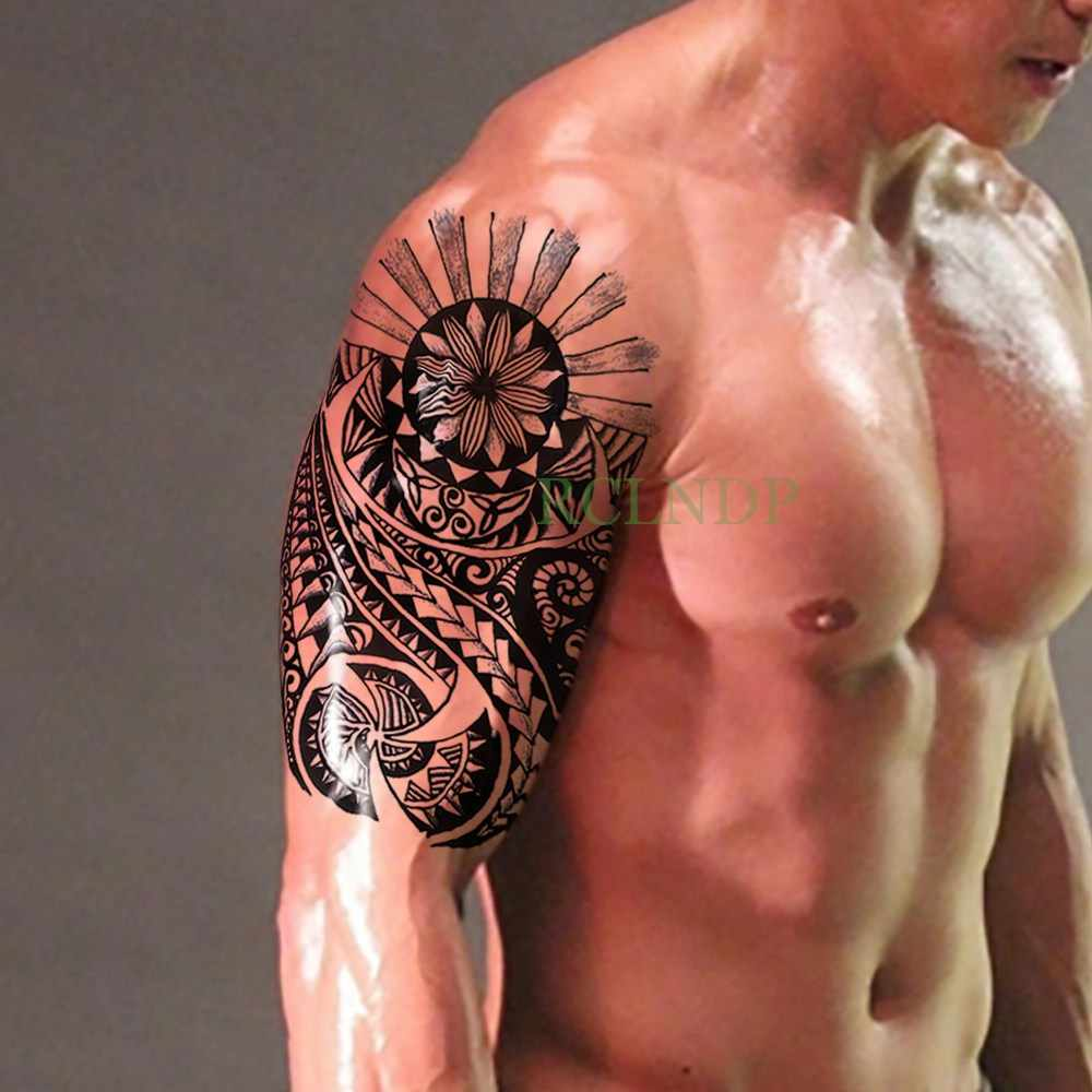 방수 임시 문신 스티커 앵커 큰 크기 가짜 문신 플래시 문신 tatouage temporaire 바디 아트 여자 여자 남자