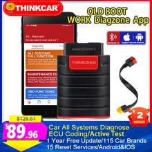 Diagzone ישן אתחול Thinkdiag OBD2 סורק Thinkcar כל תוכנה 15 מאפס Thinkdiag מקצועי כלי אבחון x431 V Easydiag