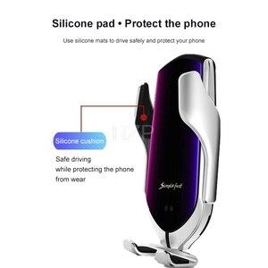 Image 4 - RZP 10W Qi Auto Drahtlose Ladegerät Für iPhone Xs Max X Samsung S10 S9 Schnelle Wirless Lade Automatische Intelligente auto Telefon Halter