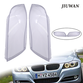 1 Pair Left & Right Car Headlight Transparent Lens Covers Front Headlamp Shell Auto Light Accessories For BMW E90 2004-2007 image