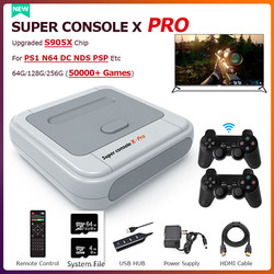 50000+ Games Super Console X PRO Retro Mini TV Video Game Consoles 4K HDMI/WIFI Portable Children Game Console For PS1/N64/DC