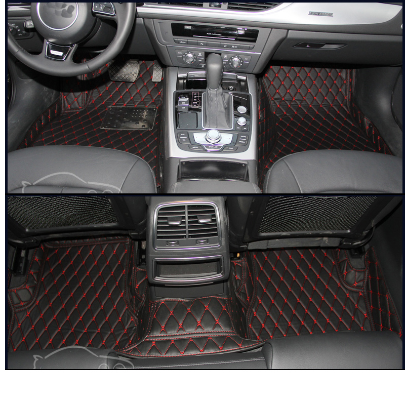 lsrtw2017 leather car floor mats for audi a6 2017 2016 2015 2014 2013 2012 rug carpet accessories interior styling avant c7 image