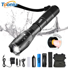 Waterproof LED Tactical Flashlight Ultra Bright Torch  5 Switch Mode T6/L2/V6 Zoomable Camping Light Use 18650 Battery with Gift camping hiking led flash light hunting backpacking ultra bright cree xml t6 zoomable waterproof torch lights bike light