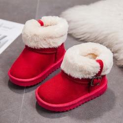 2020 nowe buty dziewczęce chłopięce buty buty dziecięce dziecięce zimowe buty śnieżne ciepłe bawełniane zapięte kalosze tkanina czesankowa miękka w środku w Buty od Matka i dzieci na