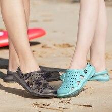 Men Shoes Crocse Hole Shoes Women Beach Shoes Light Sandals Home Slippers Outdoor Summer Wading Snea