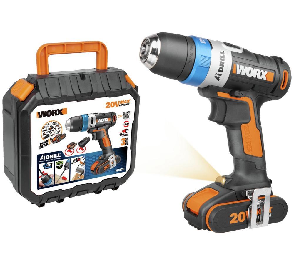 Axe Multi-usage sans fil a vu 2 batteries Set Outils 20 V Max Worx WX550.3 18 V
