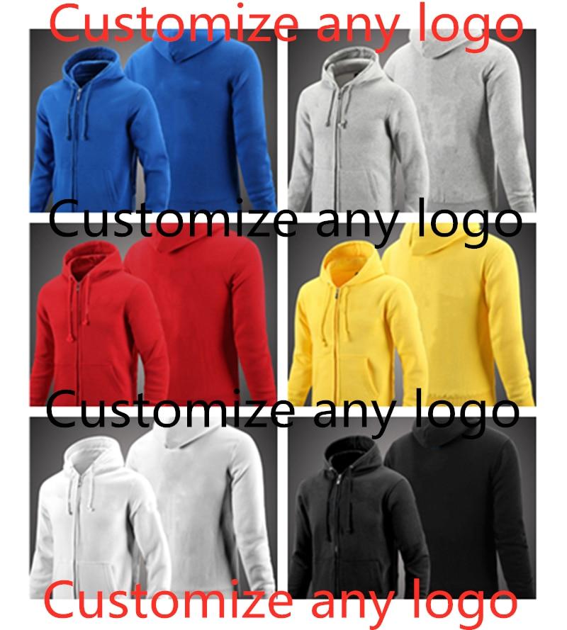 6色 带袖标的常规拉链卫衣