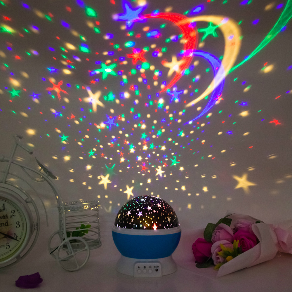Novelty Luminous Toys Romantic Starry Sky LED Night Light Projector Battery USB Night Light Creative  Wholesale Lots Bulk Toys
