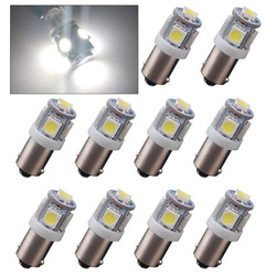 20Pcs Car Lights 12V Ba9s 5050 5LED Signal Lamps T11 T4W 53 Interior Dome Map bulbs Clearance Truck Lighting Automobile Read SMD