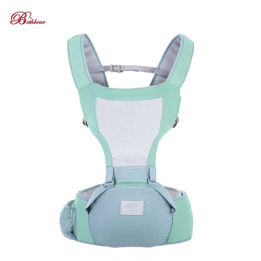 Bethbear, portador de bebé recién nacido, taburete de cintura, 0-36 meses, diseño ergonómico, portabebés, mochila de eslinga, asiento de cadera, 2019