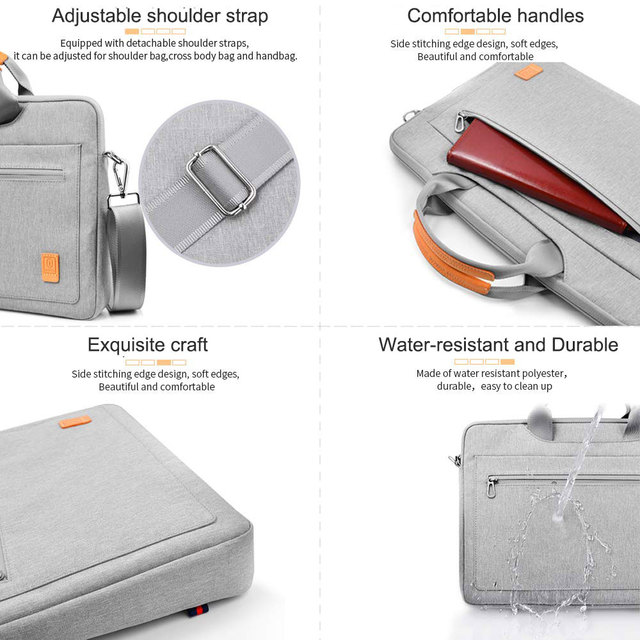Gray Wiwu Sleeve Case For Laptop And MacBook Air & Pro  3
