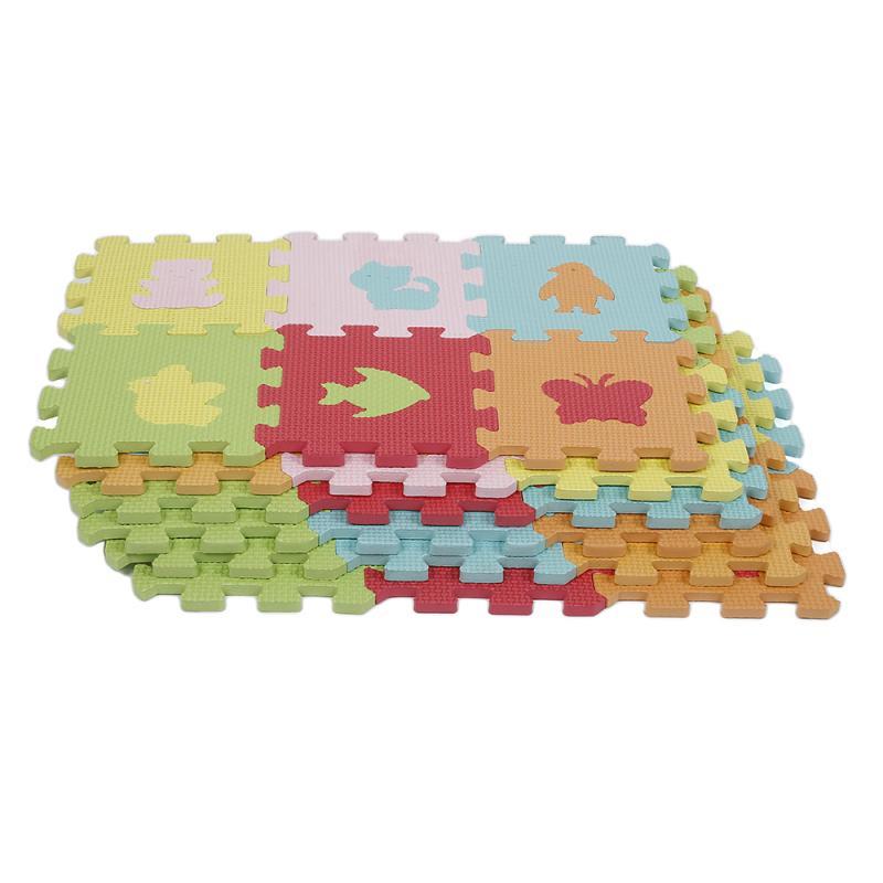 Baby EVA Foam Newborn Play Floor Playmats Rug Protective Tile Flooring Carpets 16*16cm 36PCS Animal Models DIY Puzzle Gyms Mat