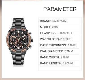 Image 4 - KADEMAN Luxury Brand Ladies Watch Fashion 3ATM Waterproof Quartz Watch For Female With Stainless Steel Belt Bayan Kol Saati 836