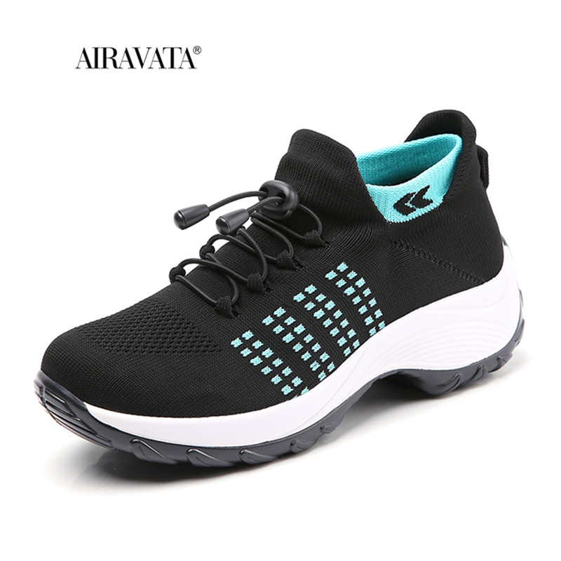 moon-Women Casual Shake Sneakers Breathable Platform Walking Shoes