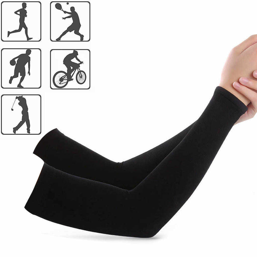 1 Pair Unisex Outdoor Sports Cooling Arm Sleeves Cover UV Sun Protection