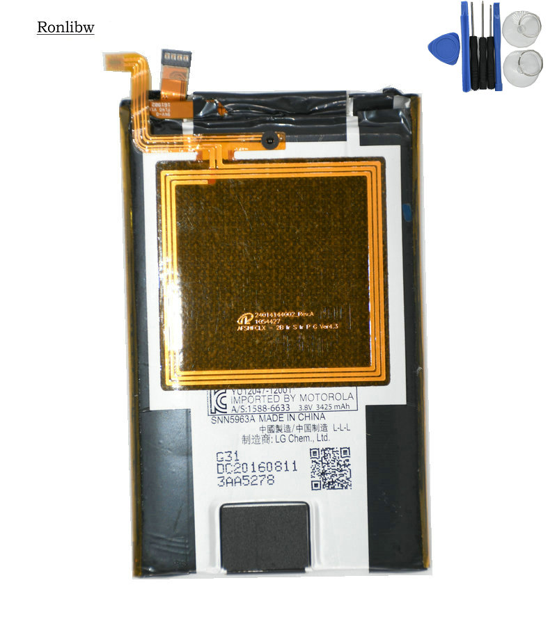 Ronlibw 3425mAh Battery FL40 With NFC Replacement  For Motorola Droid Maxx 2 XT1565 Moto X Play X3A XT1562 XT1563