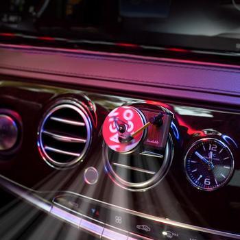 Ambientador giratorio, reproductor de registro de fragancia, purificador de aire para coche, suministros de fonógrafo, difusor de perfume automático, Interior