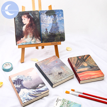 YUEGUANGXIA Art Museum Famous Painting Artsy Pocket Notebook Sunshine Impression Little Irene Pond Lily Creative