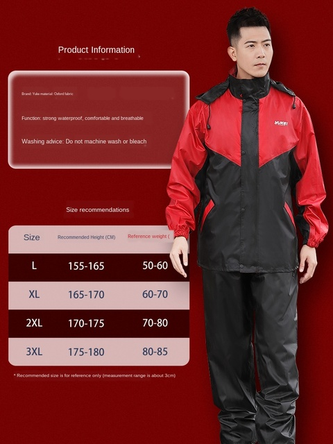 Nylon Electric Motorcycle Raincoat Rain Pants Suit Rain Coat Jacket Adult Rain Suit Men Thicken Double Casaco Masculino Gift 4