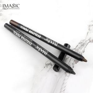 Image 4 - IMAGIC 6 шт комбинация 15 цветов Тени для век подводка для глаз Ручка 4D волокно толстые завитые ресницы Подарочный пучок