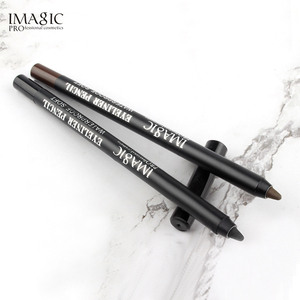 Image 4 - IMAGIC 6pcs combination 15 color eye shadow eyeliner pen 4D fiber thick curl eyelashes gift puff