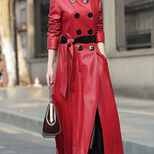Skirted Coats Maxi Nerazzurri Faux-Leather Womens Plus-Size Luxury for Fall Fashion 4xl
