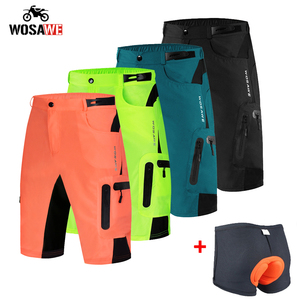 WOSAWE Summer Motorcycle Shorts Breathable Loose Short MTB Bike Shorts moto Shorts Men Running Bicycle Pants Riding Bike Shorts