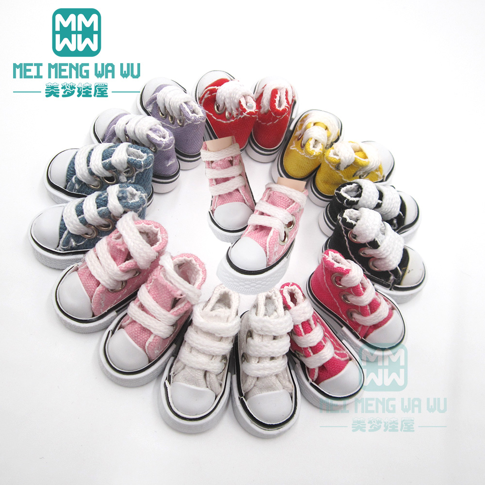 3.5*2cm Doll Shoes For 1/6 28-30cm Blyth Azone OB23 OB24 Fashion Sports Shoes, Socks