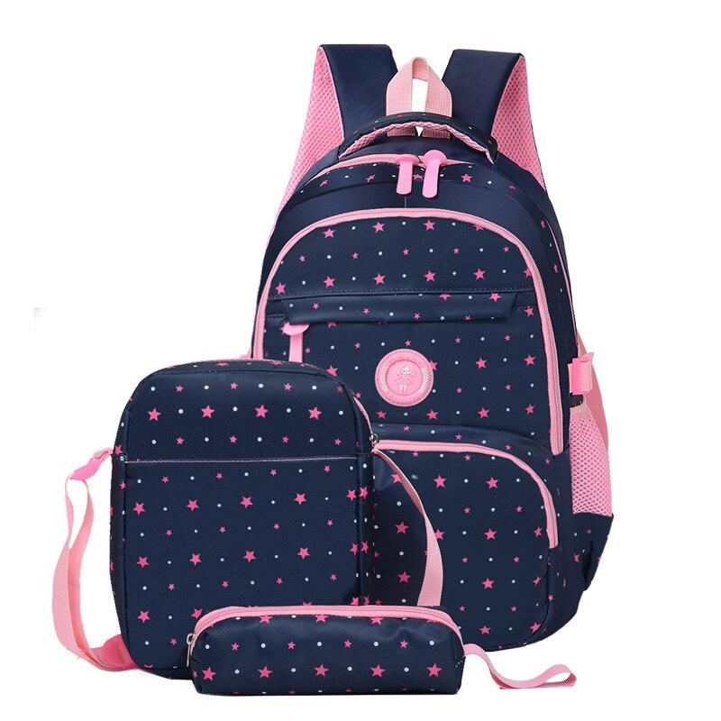 New 3pcs Printing School Bags Girls Teenager Schoolbag Fashion School Backpacks For Children Kids Travel Bag Backpacks Mochila
