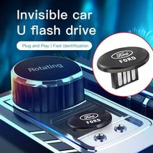 Invisibilità metallo USB Mini disco portatile U per Ford Escape Kuga Mondeo Fiesta Focus Fusion Ranger Explorer USB 3.0 Flash Drive
