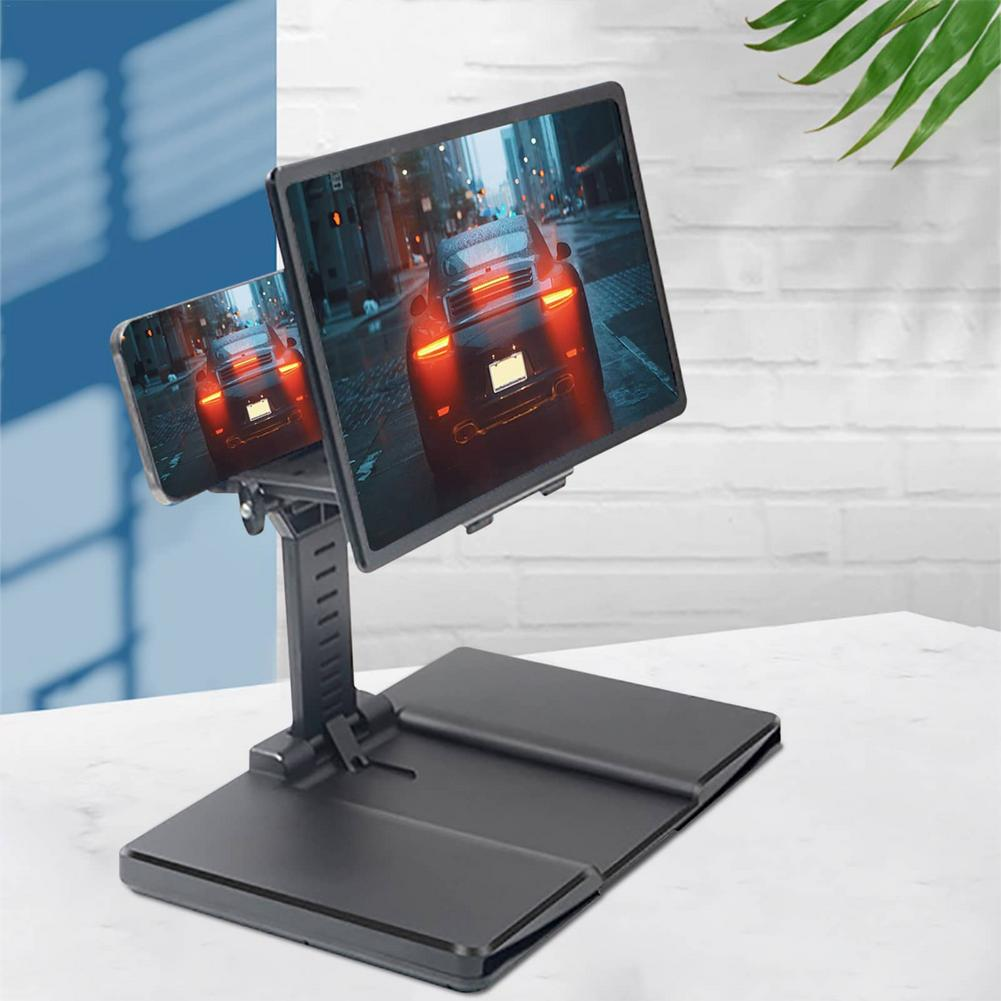 3D Desktop Phone Holder Stand Universal Mobile Phone Screen Magnifier 3D Enlarger Magnifying Video Amplifier Projector Bracket