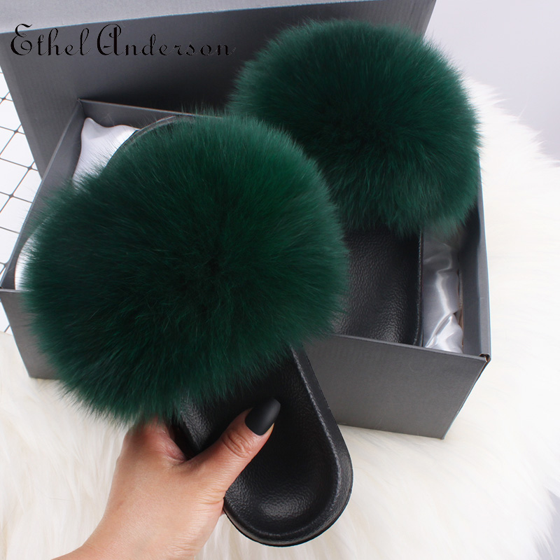 Dark Green Fox Fur