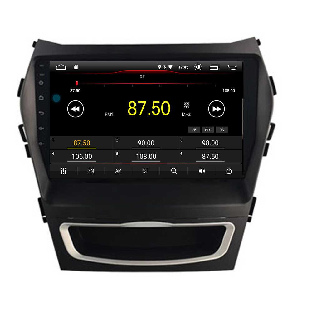 الجديدة القادمة! الروبوت 9.0 2.5D مشغل أسطوانات للسيارة ل هيونداي IX45 سانتا fe 2013-2017 الوسائط المتعددة راديو gps ستيريو gps خريطة الملاحة كاميرا