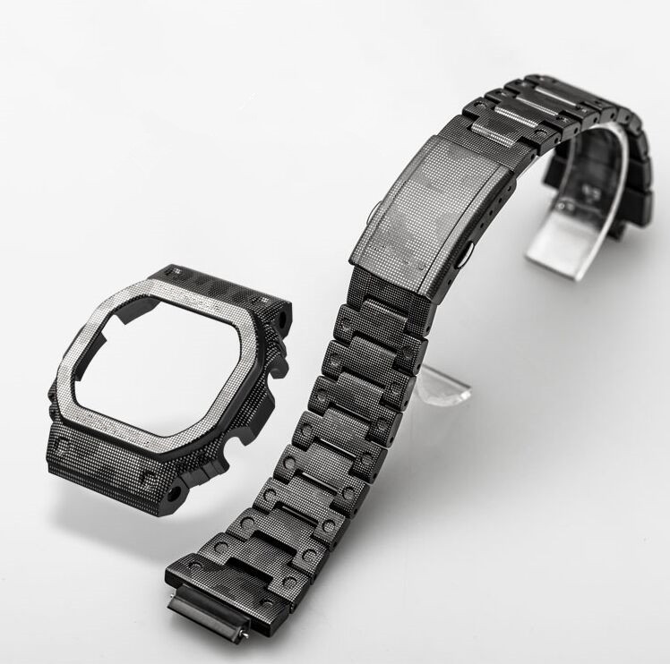Latest Generic Titanium Watch Bezel and Band for <font><b>DW5000</b></font> 5600 5035 in Camouflage Color image