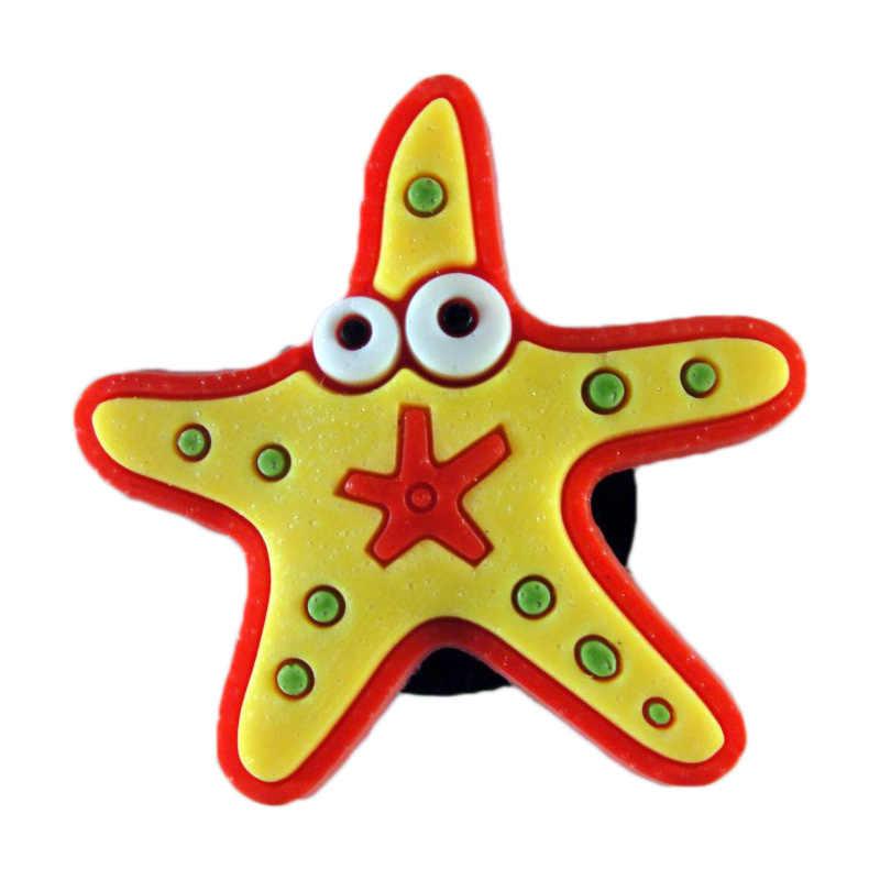 Venta única 1 pieza esponja estrella de mar Caracol PVC zapato encantos accesorios zapato Decoración Para croc jibz chico fiesta x-mas regalo