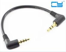 90 Graus de Angulo Direito 3 polak 3.5mm de Audio Aux kabel płaski Cabo de Macho para Macho parao tele o telefone carro aux fala